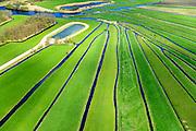 Nederland, Noord-Holland, Nieuw-Loosdrecht, 'De Ster', 09-04-2014; het lokale riviertje 'de Drecht' eindigt in 'de Ster' (naar de vorm) in het veenweide gebied ten Oosten van de Loosdrechtsche Plassen.<br /> Local stream ends in form of a star. The star shape is the result of diging up the peat in the past.<br /> luchtfoto (toeslag op standard tarieven);<br /> aerial photo (additional fee required);<br /> copyright foto/photo Siebe Swart
