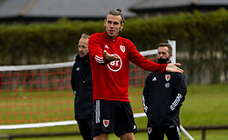 CARDIFF, WALES - Saturday, September 5, 2020: Wales' captain Gareth Bale during a training session at the Vale Resort ahead of the UEFA Nations League Group Stage League B Group 4 match between Wales and Bulgaria. (Pic by David Rawcliffe/Propaganda)