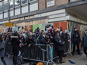 Peter St. Queue outside skateboard and t. shirt shop in Soho when new range introduced. London, 18 February 2016
