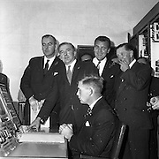 05/09/1961<br /> 09/05/1961<br /> 05 September 1961<br />  Minister for Posts and Telegraphs Michael Hilliard launches Telefis Eireann. The minister switches on the Kippure transmitter site, Co. Dublin/Wicklow.