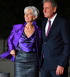 International Monetary Fund (IMF) Managing Director Christine Lagarde and her partner Xavier Giocanti arriving on eve of the commemoration of the Centenary of Armistice Day 1918 for a State Dinner in Musee d'Orsay, Paris, France on November 10th,2018. Photo by Christian Liewig/ABACAPRESS.COM