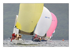 Yachting- The last days racing  of the Bell Lawrie Scottish series 2003 at Tarbert Loch Fyne.  Damp grey skies and light winds decided the final results in most fleets...Animula, Duncan Grant's Titan 36 in Class two ahead of Freya of Rhu and Tiger...Pics Marc Turner / PFM