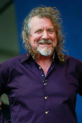 26 April 2014. New Orleans, Louisiana.<br /> Robert Plant plays the New Orleans Jazz and Heritage Festival. <br /> Photo; Charlie Varley/varleypix.com
