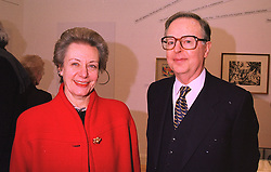 The ITALIAN AMBASSADOR H.E.PAOLO GALLI and MRS GALLI at a party in London on 27th January 1998.MEX 34