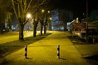 Bialystok, 23.03.2020. Pustki na ulicach Bialegostku podczas epidemii koronawirusa N/z pusta ulica sw Rocha wieczorem fot Michal Kosc / AGENCJA WSCHOD