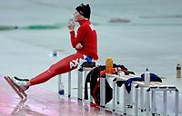 Skøyter , 10. desmebewr 2005 , 10-12-2005 schaatsen essent worldcup torino - <br /> maren haugli after the 3000 meters