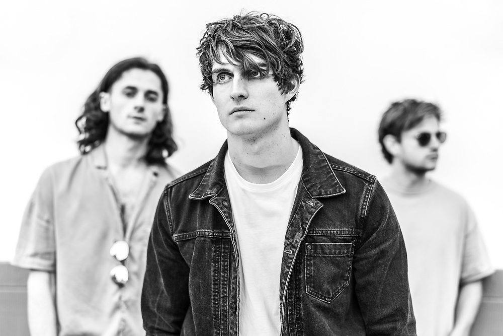 British indie-rock band Cassia backstage at the Open Ohr Festival