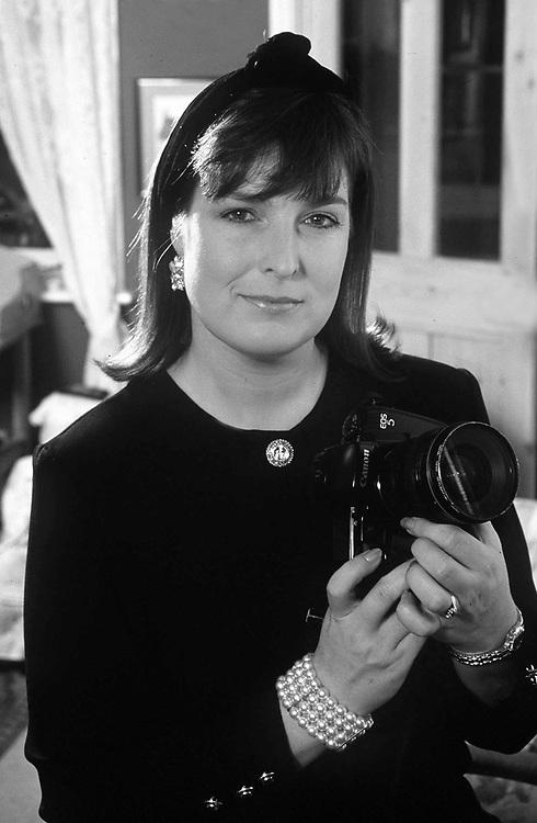British photographer Jayne Fincher seen in 1988.