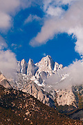 Morning light on the east face of Mount Whitney, Sequoia National Park, California