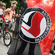 The march includes members from Anti-fascist Action.Thousands turned out for a march of solidarity against fracking in Balcombe. The village Balcombe in Sussex is the  centre of fracking by the company Cuadrilla. The march saw anti-fracking movements from the Lancashire and the North, Wales and other communities around the UK under threat of gas and oil exploration by fracking.