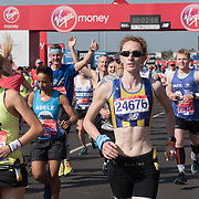 Thousands of runner at the Blue start at London Marathon 2018 on 22 April 2018, Blackhealth, London, UK.