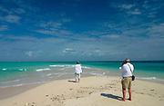 Retired couple on holiday in, Zanzibar