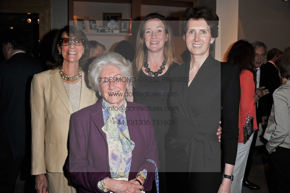 Left to right, MISTY DRIVER, LADY KENILWORTH, KIKI KITSON and VENETIA WILLIAMS at a party to celebrate the publication of 'Garden' by Randle Siddeley held at Linley, 60 Pimlico Road, London on 24th May 2011.