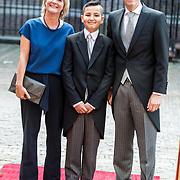 NLD/Den Haag/20170919 - Prinsjesdag 2017, Jeroen Dijsselbloem en partner Lea Bouwmeester en Haci Nuah