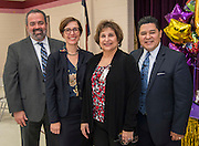 Houston ISD Superintendent Richard Carranza recognizes Cecilia Gonzales as Elementary Principal of the Year at Lyons Elementary School, February 9, 2017.