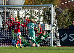 Sophie Baggaley of Bristol City in action against Arsenal Ladies - Mandatory by-line: Paul Knight/JMP - 28/10/2018 - FOOTBALL - Stoke Gifford Stadium - Bristol, England - Bristol City Women v Arsenal Women - FA Women's Super League