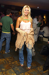 BEVERLEY BLOOM at Boodles on the Beach -  a party to launch jewellers new collection 'Daiquiri' held at Pangaea, 85 Piccadilly, London W1 on 7th June 2005.<br /><br />NON EXCLUSIVE - WORLD RIGHTS