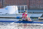 Henley-On-Thames, Berkshire, UK., Wednesday,  12/08/2020,   Athlete removes, after  boating from Leander Club for training,  [ Mandatory Credit © Peter Spurrier/Intersport Images], , Training during, the  coronavirus (COVID-19), pandemic,