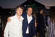THOMAS HEATHERWICK; MARK WADHWA,, Serpentine's Summer party co-hosted with Christopher Kane. 15th Serpentine Pavilion designed by Spanish architects Selgascano. Kensington Gardens. London. 2 July 2015.