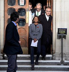 © Licensed to London News Pictures. 03/11/2016. London, UK. Campaigner GINA MILLER leaves the High Court after a ruling was announced on her Brexit legal challenge. Ms Miller and other campaigners launched a legal challenge, after the EU referendum result, to force the government to seek Parliamentary approval before Brexit negotiations begin. Photo credit: Ben Cawthra/LNP