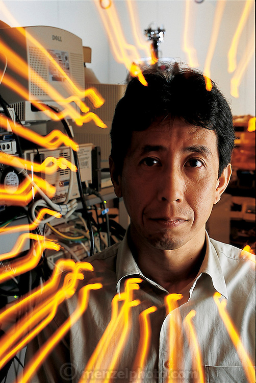 By creating a simulacrum of the human eye, the DB project leader and biophysicist Mitsuo Kawato hopes to learn more about human vision. The DB project is funded by the Exploratory Research for Advanced Technology (ERATO) Humanoid Project and led by independent researcher Mitsuo Kawato. Based at a research facility 30 miles outside of Kyoto, Japan. From the book Robo sapiens: Evolution of a New Species, page 55.