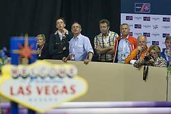 Fuchs Martin, (SUI) supporting for Guerdat Steve, (SUI) <br />  Longines FEI World Cup™ Jumping Final Las Vegas 2015<br />  © Hippo Foto - Dirk Caremans<br /> Final III round 2 - 19/04/15