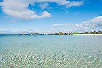 Clear water at scenic arctic beach, Gimsøya, Lofoten islands, Norway