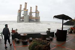 April 28, 2017 - April 28, 2017, Benalmadena, Malaga, Andalucia, Spain .Faced the platform appeared adrift in Benalmadena dragged by the storm (Credit Image: © Fotos Lorenzo Carnero via ZUMA Wire)