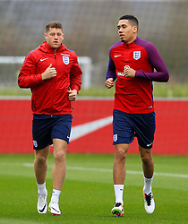 England's Ross Barkley (Everton) and Chris Smalling (Manchester United) - Mandatory byline: Matt McNulty/JMP - 22/03/2016 - FOOTBALL - St George's Park - Burton Upon Trent, England - Germany v England - International Friendly - England Training and Press Conference