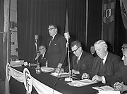 8th November 1960<br /> <br /> Seán Lemass and James Ryan pictured at the Fianna Fáil Ardfheis at the Mansion House, Dublin.