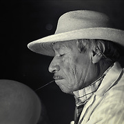 Black and white location portrait of Maestro Esteban Valdes made while documenting his life, work, and community in St Miguel de Allende, Mexico