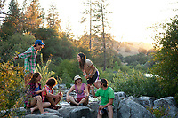 Friends hanging out along the South Fork of the American River, CA.