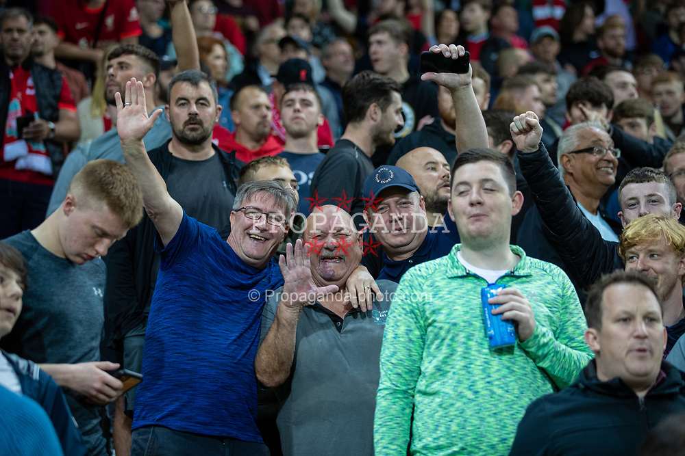 NORWICH, ENGLAND - Tuesday, September 21, 2021: Liverpool supporters during the Football League Cup 3rd Round match between Norwich City FC and Liverpool FC at Carrow Road. Liverpool won 3-0. (Pic by David Rawcliffe/Propaganda)