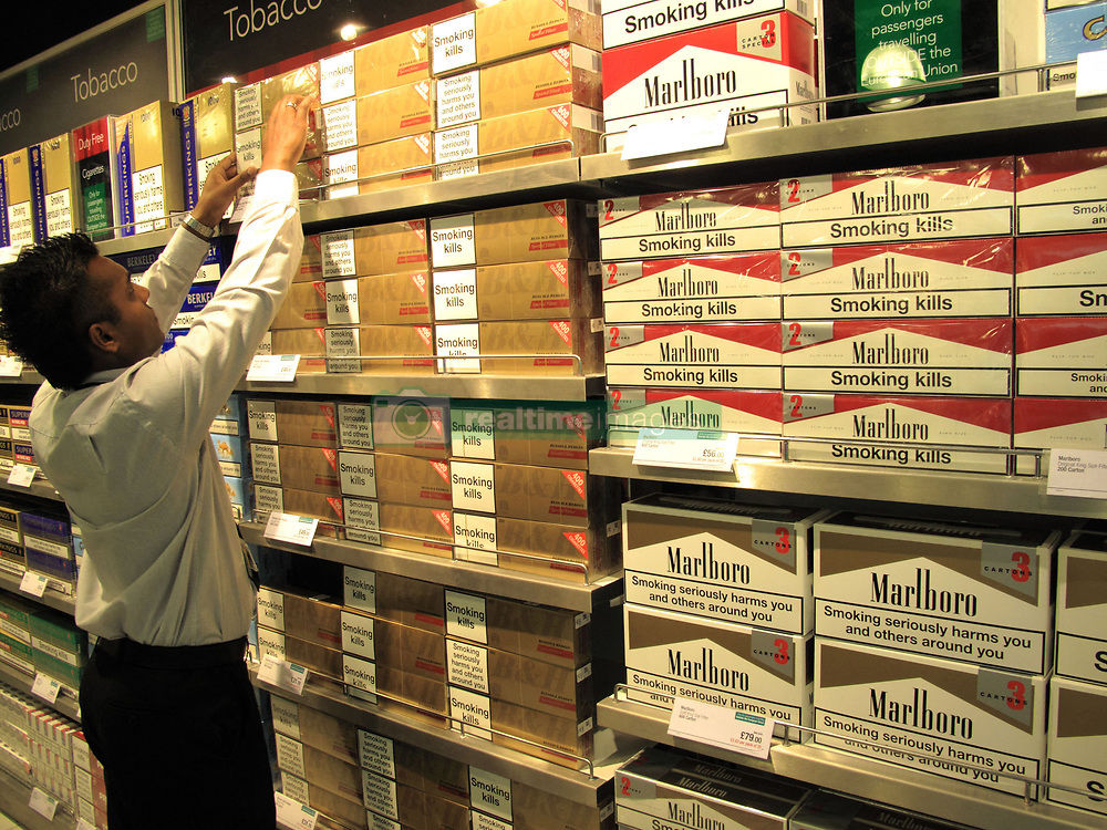 File photo dated July 8, 2010 of a tobacco shop.? A French study found that only 4.4% of 350 coronavirus patients hospitalized were regular smokers and 5.3% of 130 homebound patients smoked. This pales in comparison with at least 25% of the French population that smokes. Researchers theorized nicotine could prevent the virus from infecting cells or that nicotine was preventing the immune system from overreacting to the virus. To test this theory, hospitalized coronavirus patients, intensive care patients and frontline workers nicotine patches. Photo by ANDBZ/ABACAPRESS.COM
