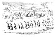 """Arrival of First Contingent. [""""A proposal has been made to introduce the penguin to the Arctic regions. Hitherto the penguin has been confined to the Southern Hemis phere. - Daily Paper.]"""