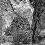 The entrance to Zion National Park's famed narrows.