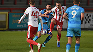 Cheltenham Town's Conor Thomas during the EFL Sky Bet League 2 match between Stevenage and Cheltenham Town at the Lamex Stadium, Stevenage, England on 20 April 2021.