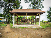 21 JUNE 2016 - DON KHONE, CHAMPASAK, LAOS: The only remaining narrow gauge train engine on Don Khone Island. The French built a narrow gauge train the length of Don Khone in the late 1890s so they could bypass the waterfalls that flank the island and make the Mekong River here unnavigable. The train engine is now a tourist stop on the island. Don Khone Island, one of the larger islands in the 4,000 Islands chain on the Mekong River in southern Laos. The island has become a backpacker hot spot, there are lots of guest houses and small restaurants on the north end of the island.       PHOTO BY JACK KURTZ