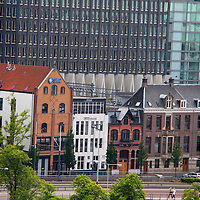 Europe, Netherlands, Amsterdam. Architecture of Amsterdam, old and new.
