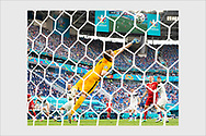 Lukas Hradecky. 0 - 1 goal for Russia. Finland - Russia. Euro 2020. Saint Petersburg, Russia. June 16, 2021.