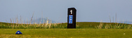 The 1st tee marker during Round 3 of The West of Ireland Open Championship in Co. Sligo Golf Club, Rosses Point, Sligo on Saturday 6th April 2019.<br /> Picture:  Thos Caffrey / www.golffile.ie
