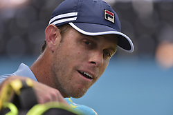 June 18, 2018 - London, England, United Kingdom - Sam Querrey of the United States reacts after victory during the first round match against Jay Clarke of Great Britain during Day one of the Fever-Tree Championships at Queens Club on June 18, 2018 in London, United Kingdom. (Credit Image: © Alberto Pezzali/NurPhoto via ZUMA Press)