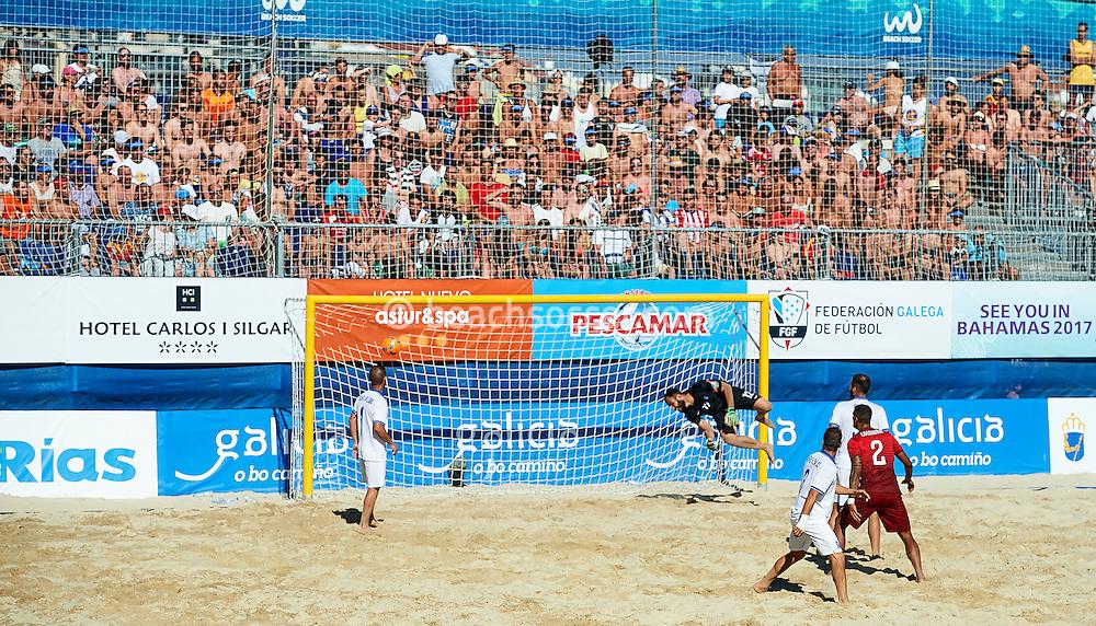 SANXENXO, SPAIN - JULY 08: Euro Beach Soccer League Sanxenxo at Silgar Beach on July 08, 2016 in Sanxenxo, Spain. (Photo by Manuel Queimadelos)