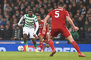 Edsonne Edouard on the ball during the Betfred Cup Final between Celtic and Aberdeen at Hampden Park, Glasgow, United Kingdom on 2 December 2018.