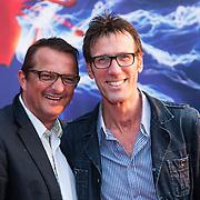 NLD/Amsterdam/20140422 - Premiere The Amazing Spiderman 2, Hans Schiffers en partner Rob Sol