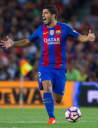 August 10, 2016 - Barcelona, Spain - Luis Suárez. 51st edition of the Joan Gamper Trophy between FC Barcelona and Sampdoria. Camp Nou, Barcelona, Spain. August 10th., 2016. Barça win 3-2  thanks to goals from Messi (2) and Luis Suárez. Budimir and Muriel for Sampdoria (Credit Image: © Eric Alonso /  Media Expres/VW Pics via ZUMA Wire)