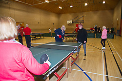 Pictured: Equalities Minister Christina McKelvie and Christine Grahame took up the challenge of a game of table tennis and took things rather seriously<br />
