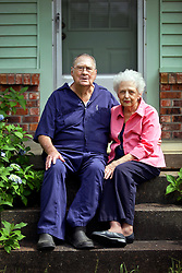 21 May 2015. Laurel, Mississippi.<br /> Tess Holliday background. <br /> Beloved grand parents Frank and Carolyn Tadlock at their home outside Laurel where Tess and her family lived for part of her life in a trailer in the back yard. <br /> Photo credit; Charlie Varley/varleypix.com