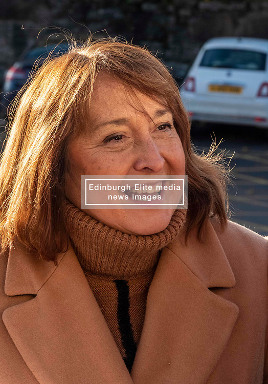 Pictured: Christine Jardine<br /><br />Christine Jardine was in Edinburgh today to announce that the Lib Dems will end double whammy of gender price and pay gap. Scottish Liberal Democrat candidate for Edinburgh West, Christine Jardine will announced plans to tackle<br />discrimination in the workplace by expanding reporting requirements on large companies.<br /><br />She was joined by Emma Walker, Mental Health Spokesperson and Jenny Marr Candidate for Berwickshire, Roxburgh and Selkirk.<br /><br />Ger Harley | EEm 14 November 2019