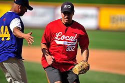 4/26/2014 Allentown, PA Police Officers and Firefighters from the City of Allentown take to the field at Coca-Cola Park Saturday afternoon for a 90-minute softball game as part of Hero's Night, an IronPigs special event to promote local emergency responders. Express-Times Photo | CHRIS POST